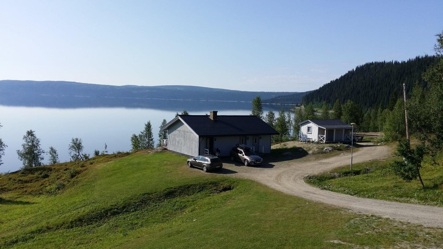 Stugor vid Stora Blåsjön
