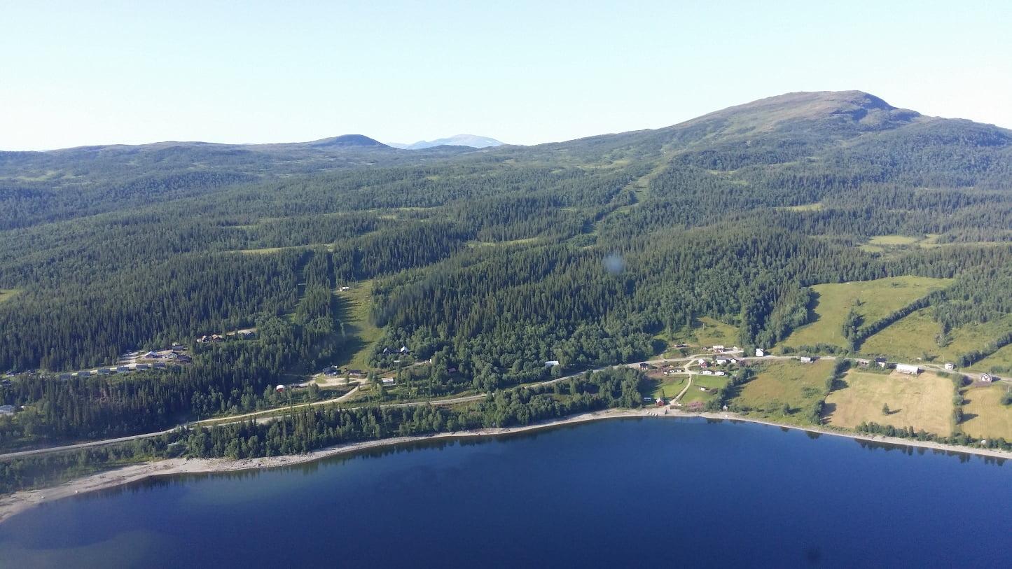 Vy över Stora Blåsjön
