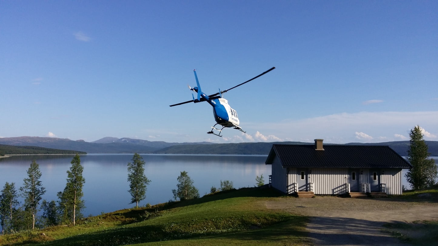 Stuga vid Stora Blåsjön