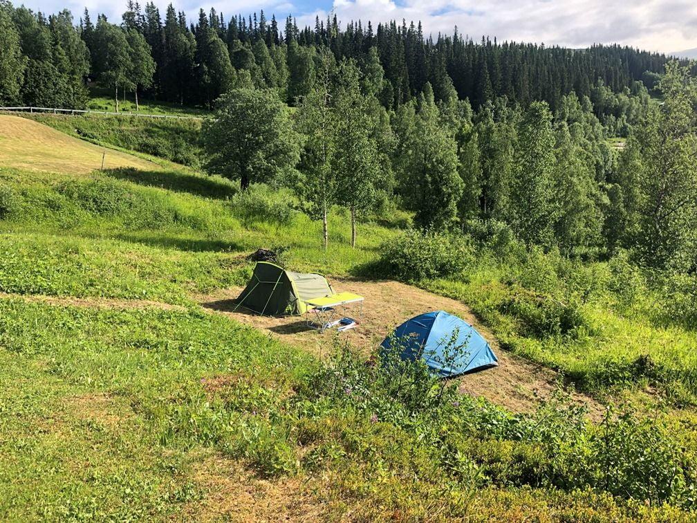 Tält vid Stora Blåsjön