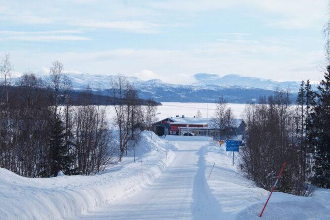 Stora Blåsjön Vinter