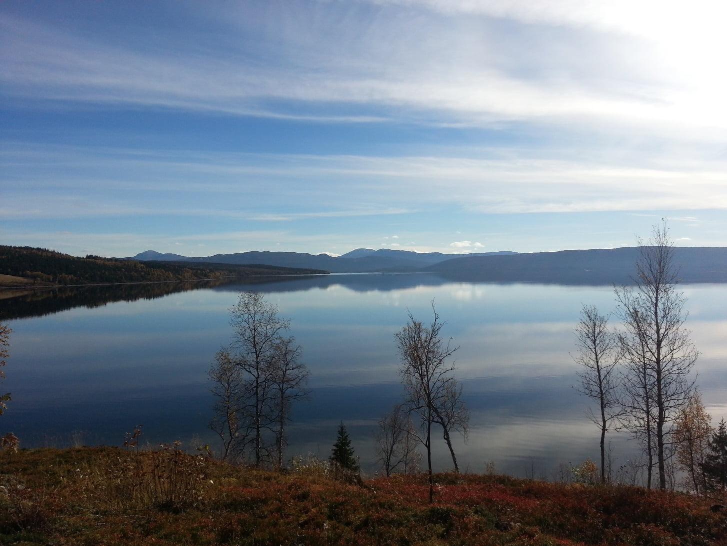 Vy över Stora Blåsjön Höst